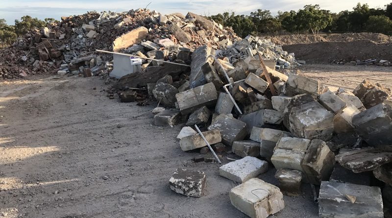Building Material Recycling Mixed Inert Rubble