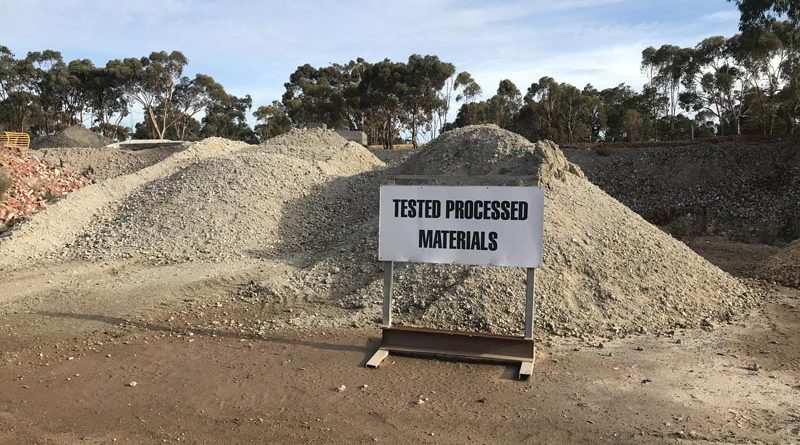 Swan Construction Recycling Tested Processed Materials